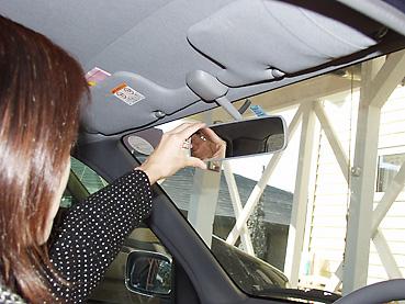安全運転のためにミラー調整